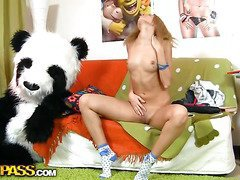 This toys porn episode starts in a very sinless way - a cute legal age youngster gal is reading a book, leaning on her large panda bear toy. What a good girl! Don't know which laws it was, but it made the chick extremely aroused. This Babe started touching herself, and pretty soon the laws was replaced by an enomous sex toy. Then the horny chick decided to go for fun sex with her panda bear, who was equipped with a dong penis just in case. They did it on the floor and on the couch, in as a result many poses and with such drive! U hav...
