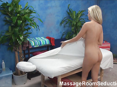 If u are interested in examining how blond cutie with great massive juggs is having sex with fellow then check up this gripping action now! That Guy massages the cutie with oil and then starts indoctrination her twat.