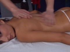 Those three gals fucked hard by their massage therapist after getting a soothing rubdown