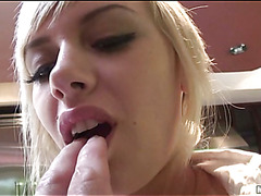 A college gal eventually dares riding a massive pecker