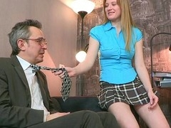 Chick is getting hardcore doggystyle drilling from teacher