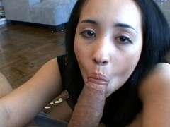 Stroking her own twat makes beauty energized for a hard pecker