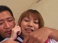 After giving a tender oral-job, this Japanese legal age immature schoolgirl enjoys her first jock in her constricted and wet Oriental cunt. This juvenile slut gets deeply fucked from behind and love it!