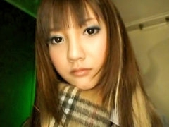 Sexy beautiful hot long haired asian teen blowing dick deep