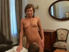 Sweet honey is getting her twat drilled by tutor from behind