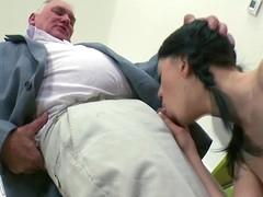 Stunner is offering her cunt for teacher's lusty joy
