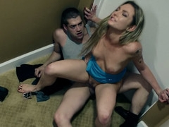 Tempting Bailey ridding a stranger in the motel