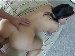 Sinful angel is fond of getting anus drilled by hawt ebon chap