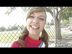 Cute virginal Nicole is a cheerleader convenient her high school. That Babe does what all typical high school cheerleaders do: go to the mall, hang out with allies and get dripping wet when they have a ramrod in front of 'em. Nicole is a bit different, this babe copulates cognate with that babe's been around! As a result that babe definitely knows how to raise any weenie's spirits! Go Facial Go!!!