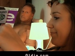 Youthful Alexis Crystal is horny and his old hubby neglects her and her youthful cookie. To get fine hardcore fuck the sexy legal grow older pubescent blackmails and tease the old geezer until this guy stars licking and massaging her pinky vagina